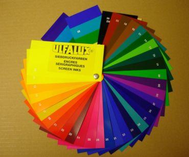 siebdruckfarbenfarbkarte